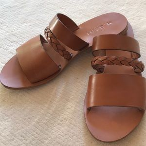M. Gemi Cesta Sandal in Luggage Brown sz 37.5